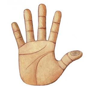 Left thumb